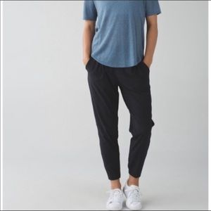 Lululemon Drawstring Black Jogger Pants 10
